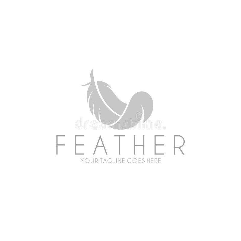 Fjäder logo vektor illustrationer
