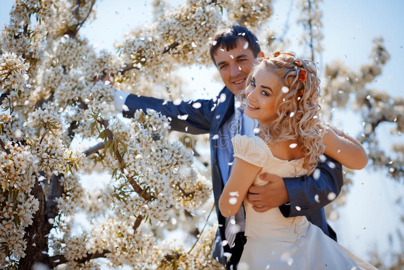 fjäderbröllop royaltyfri fotografi