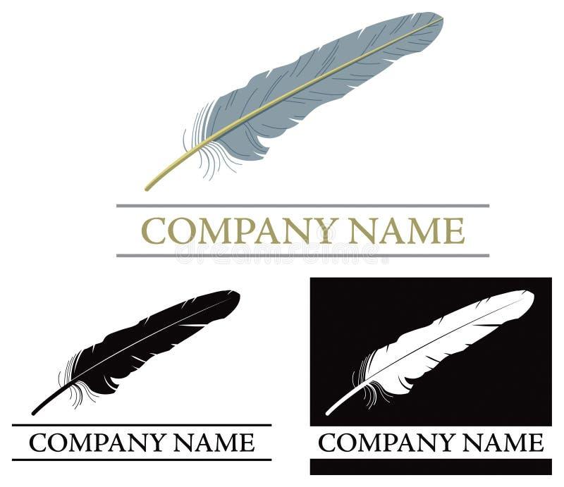 Fjäderlogo stock illustrationer