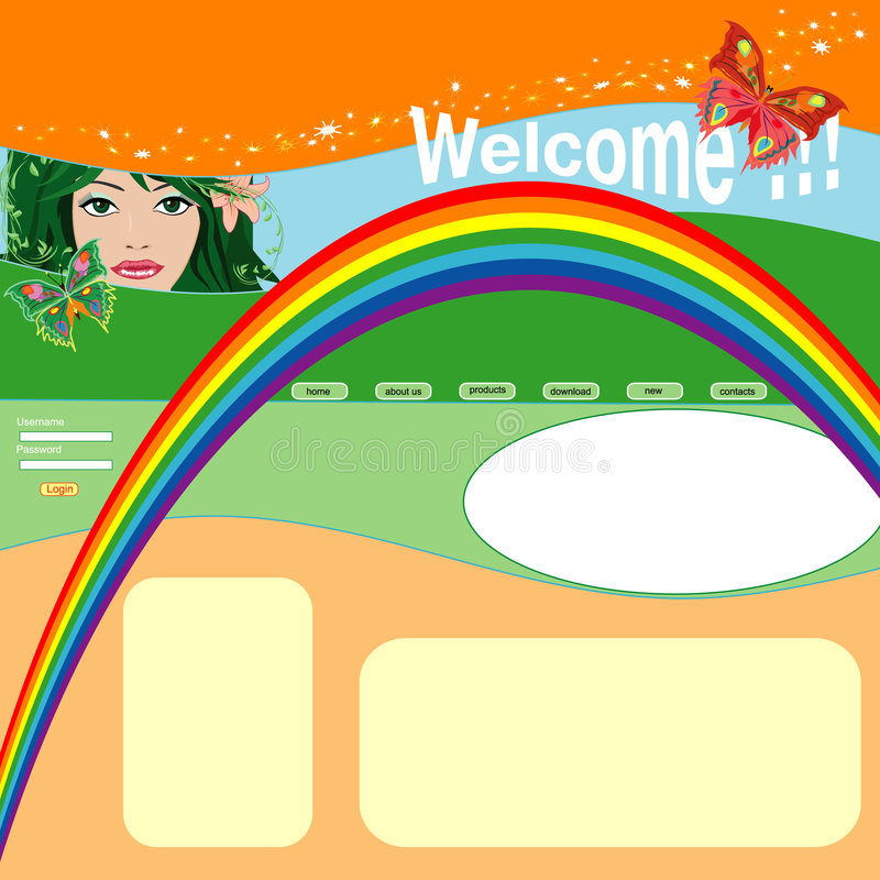 fjädermallwebsite vektor illustrationer