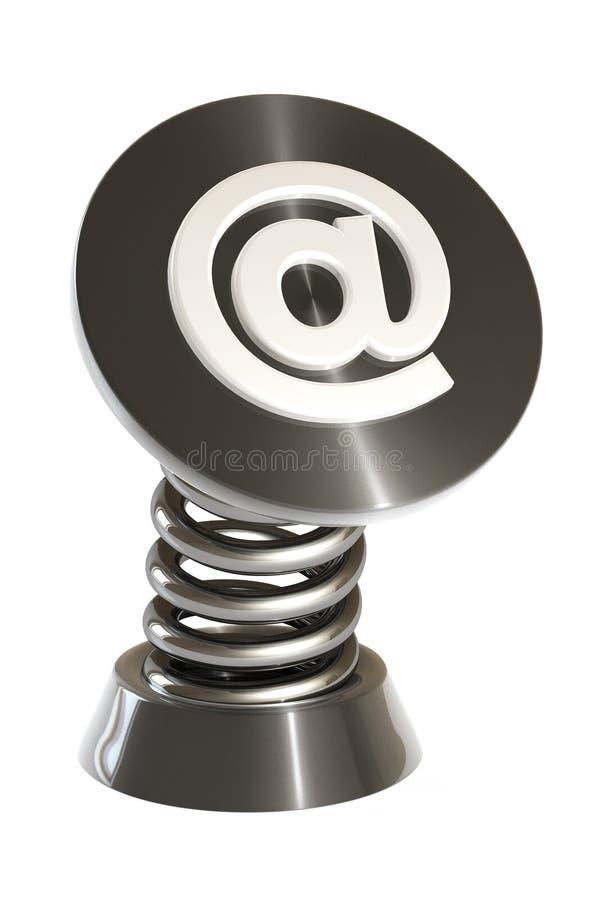 fjädersymbol för e-post 3d arkivfoto