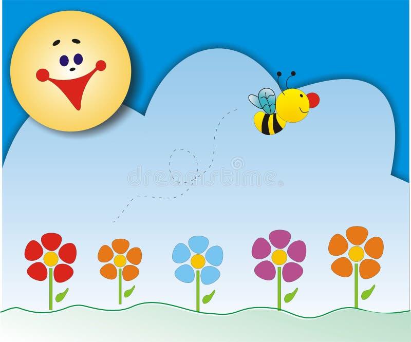 Download Fjädertid stock illustrationer. Illustration av blommor - 283262