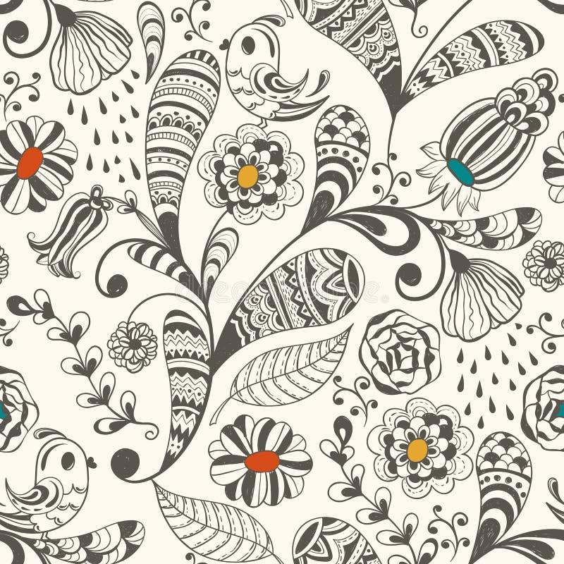 Den Seamless wallpaperen mönstrar vektor illustrationer