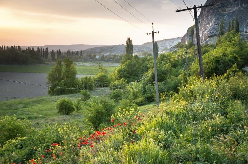 Fjädra i Crimea royaltyfri foto