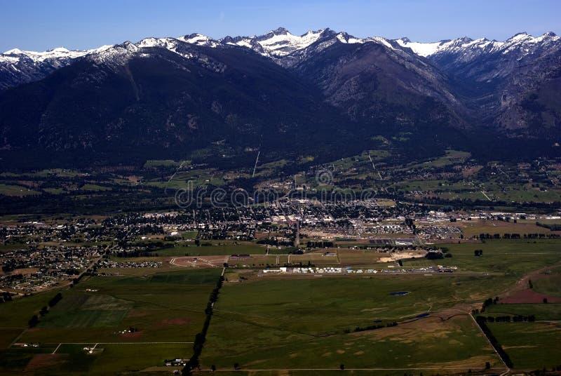Fjädra i västra Montana USA arkivfoton