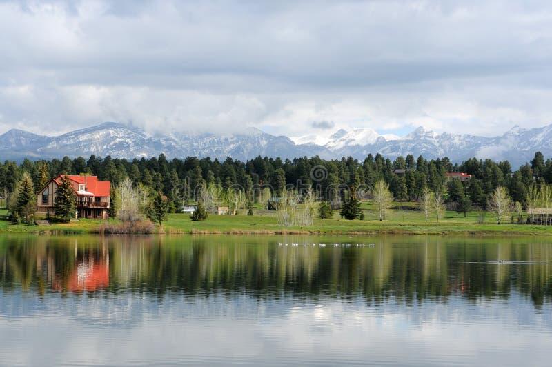 Berg Lake arkivbild