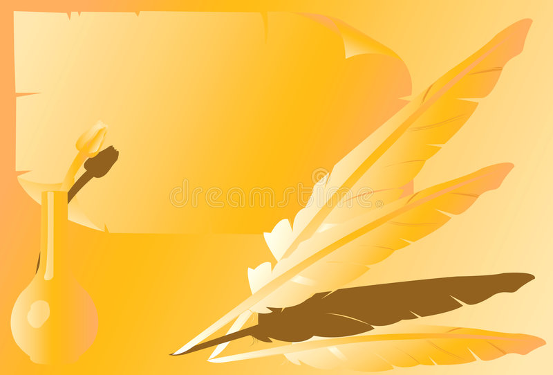Fjädrar royaltyfri illustrationer