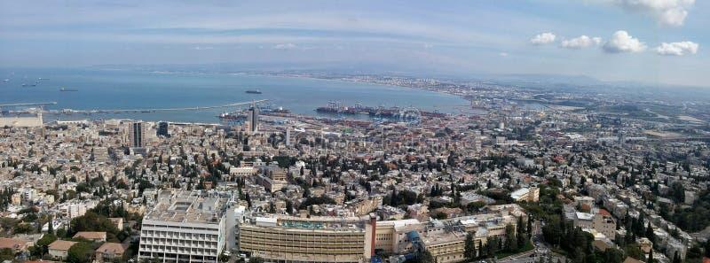 Fjärd av Haifa arkivbilder