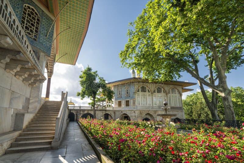 Fjärde borggård, Topkapi slott, Istanbul, Turkiet arkivbild