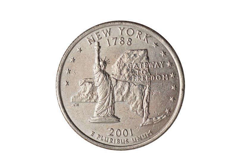 Fjärdedel av dollarmyntet royaltyfri bild