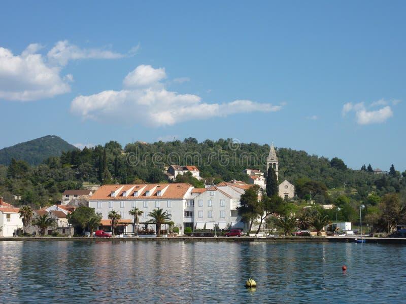 Fjärden av Sipan i Kroatien royaltyfri foto