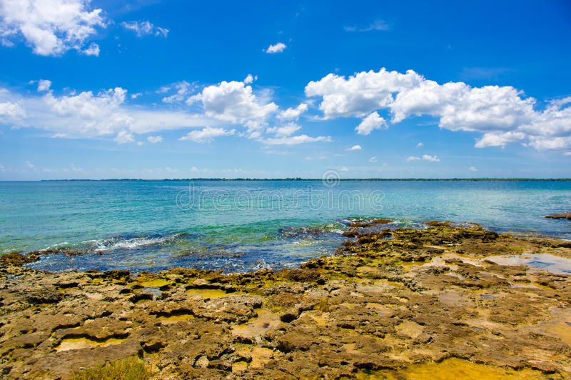Fjärden av svin, playa Giron, Kuba royaltyfri fotografi