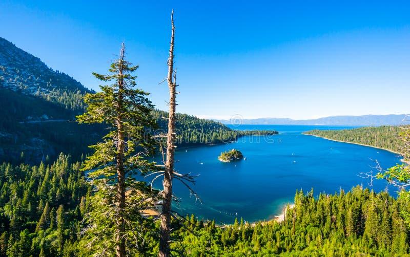 fjärdsmaragd Lake Tahoe arkivbild