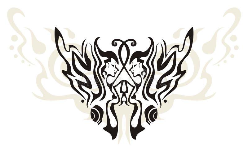 Fjäril. Fjärilen påskyndar i form av womaen royaltyfri illustrationer