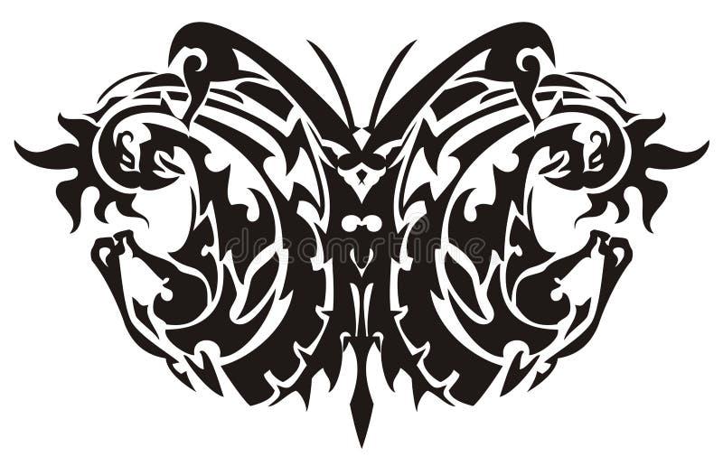 Fjäril som skapas av hästhuvudet och phoenixen royaltyfri illustrationer