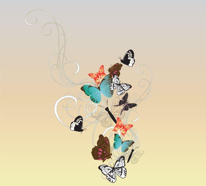 fjärilar stock illustrationer