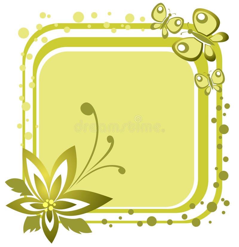 fjärilsblomma vektor illustrationer