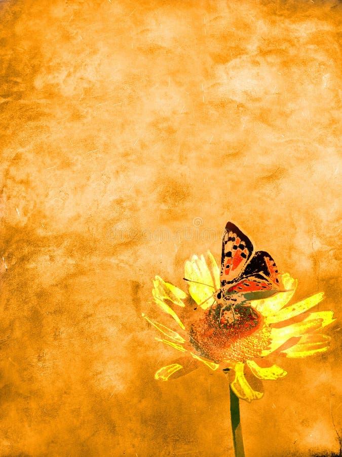 fjärilsblommapapper vektor illustrationer