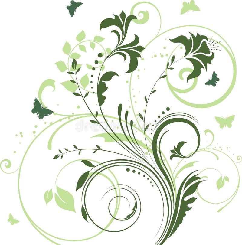 fjärilsblommor royaltyfri illustrationer