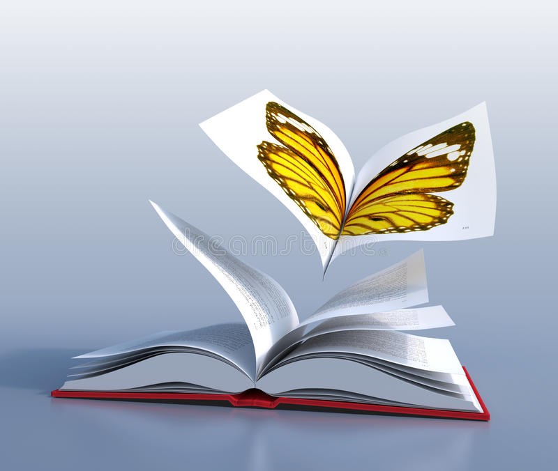 Fjärilsbok vektor illustrationer