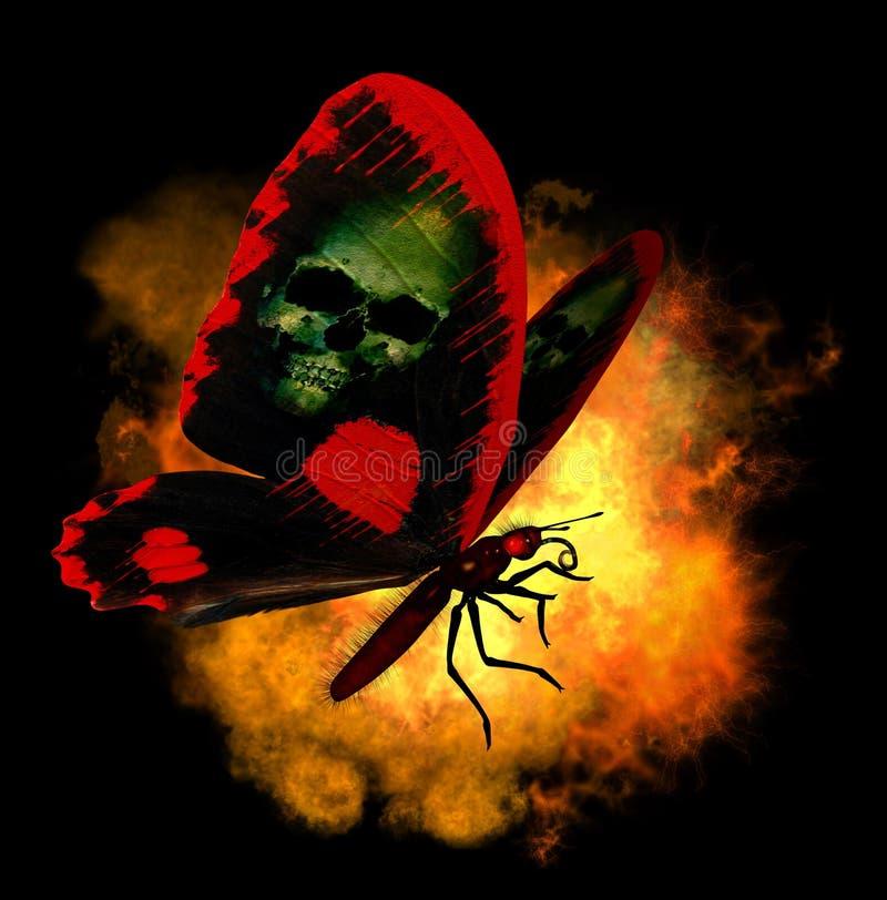 fjärilsdemon stock illustrationer
