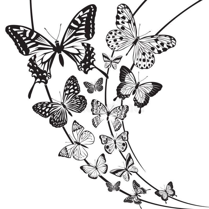 Fjärilsdesign royaltyfri illustrationer