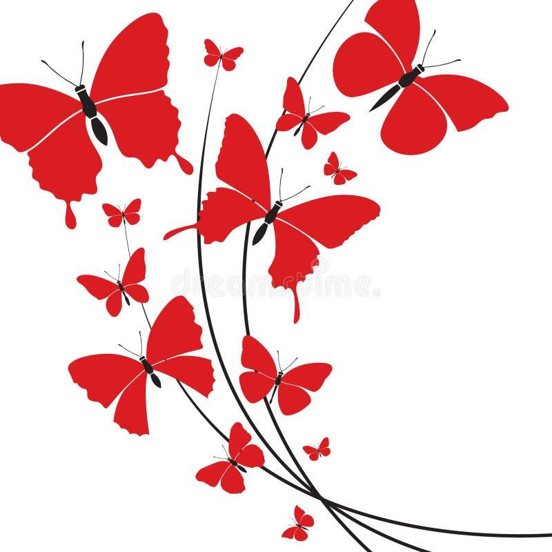 Fjärilsdesign vektor illustrationer