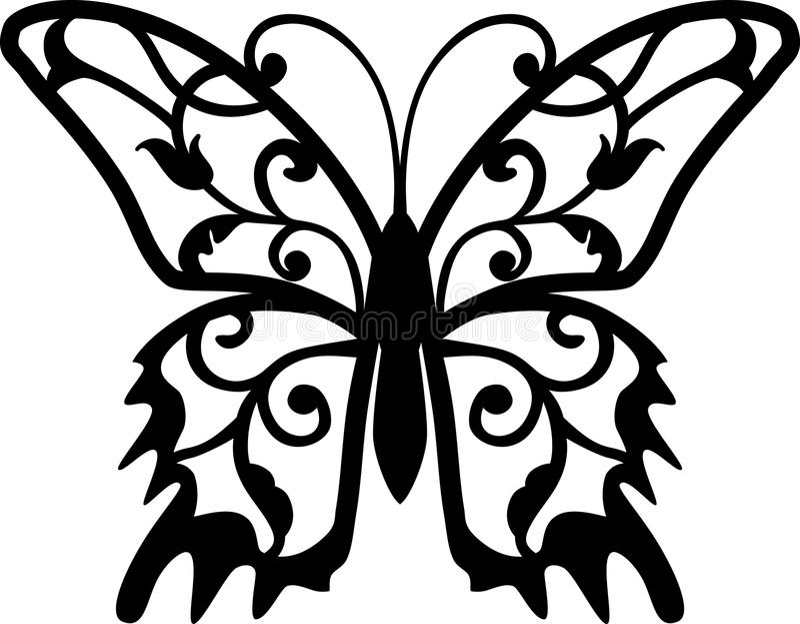 fjärilsdesignelement royaltyfri illustrationer