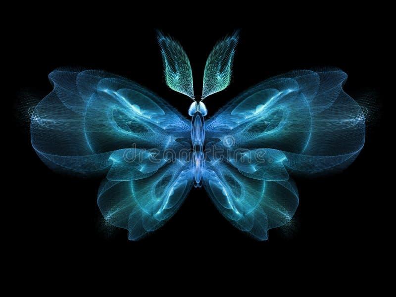 Fjärilselegans vektor illustrationer