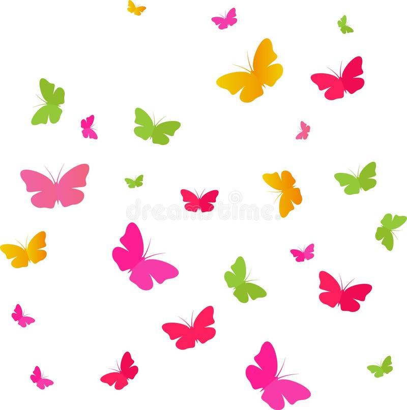 Fjärilsfärger vektor illustrationer