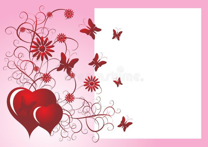 fjärilsförälskelse stock illustrationer