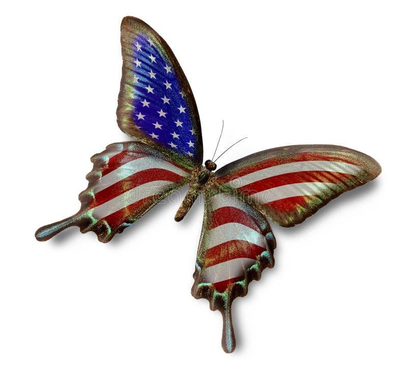 fjärilsflagga USA stock illustrationer