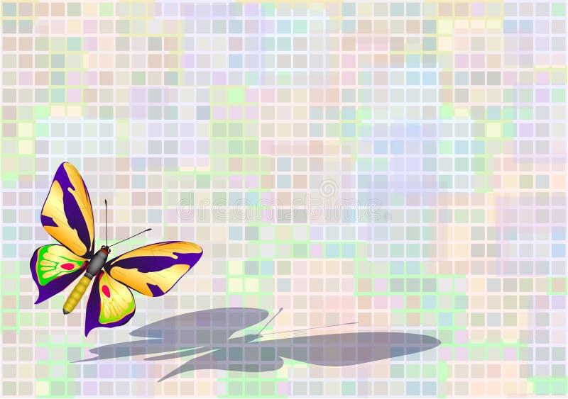 fjärilsflyg stock illustrationer