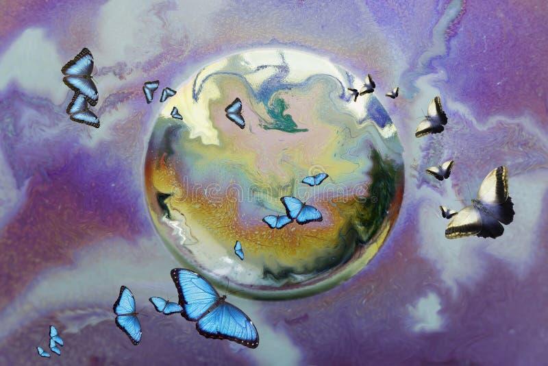fjärilsflyttning royaltyfri illustrationer