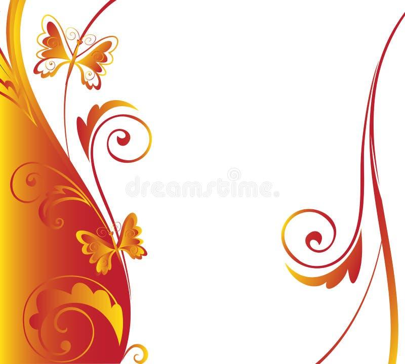 Fjärilsgräns royaltyfri illustrationer