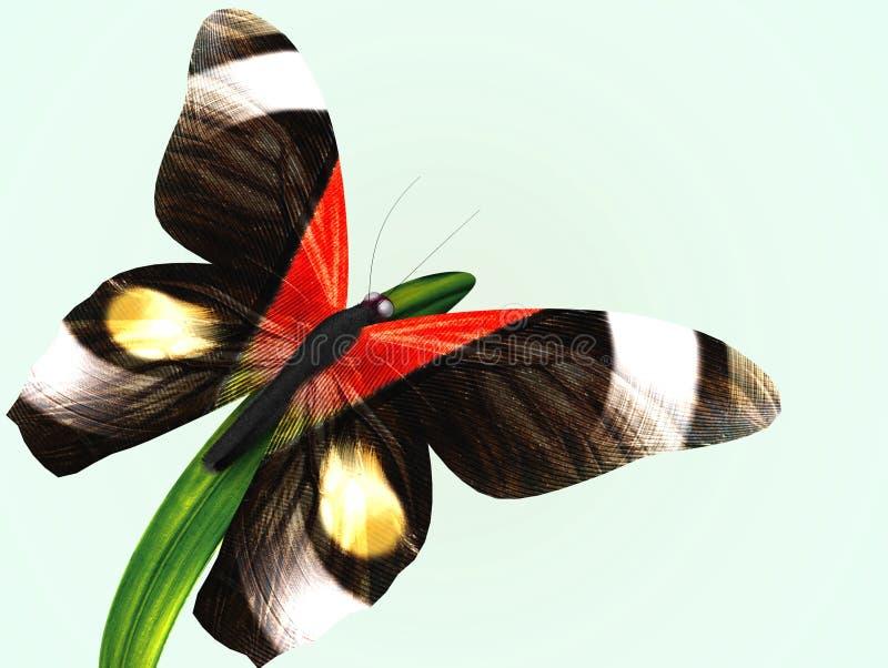 fjärilsgräs royaltyfri illustrationer