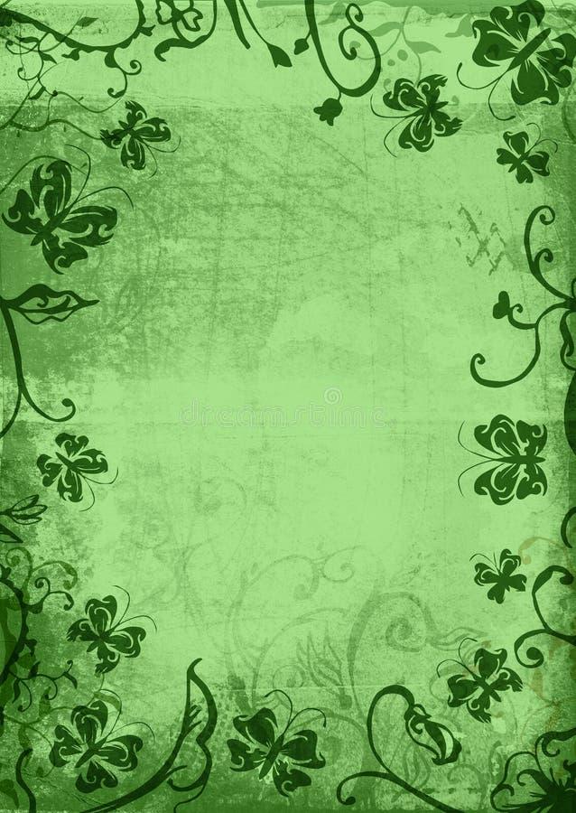 fjärilsgrungesida stock illustrationer
