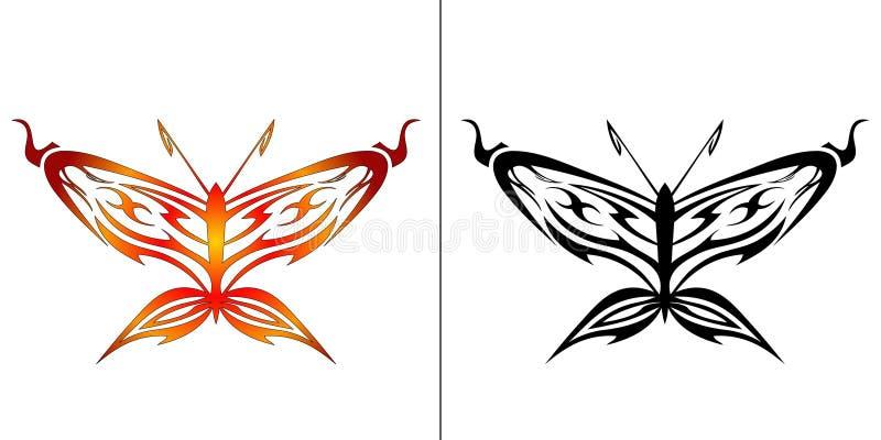 fjärilsillustration stock illustrationer