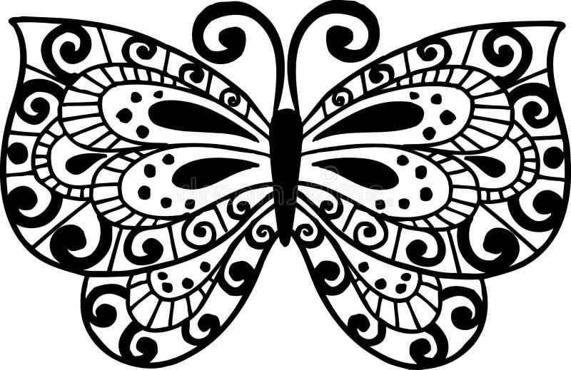 fjärilsillustration vektor illustrationer