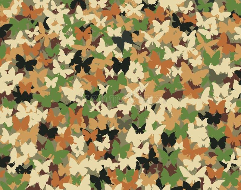 fjärilskamouflage stock illustrationer