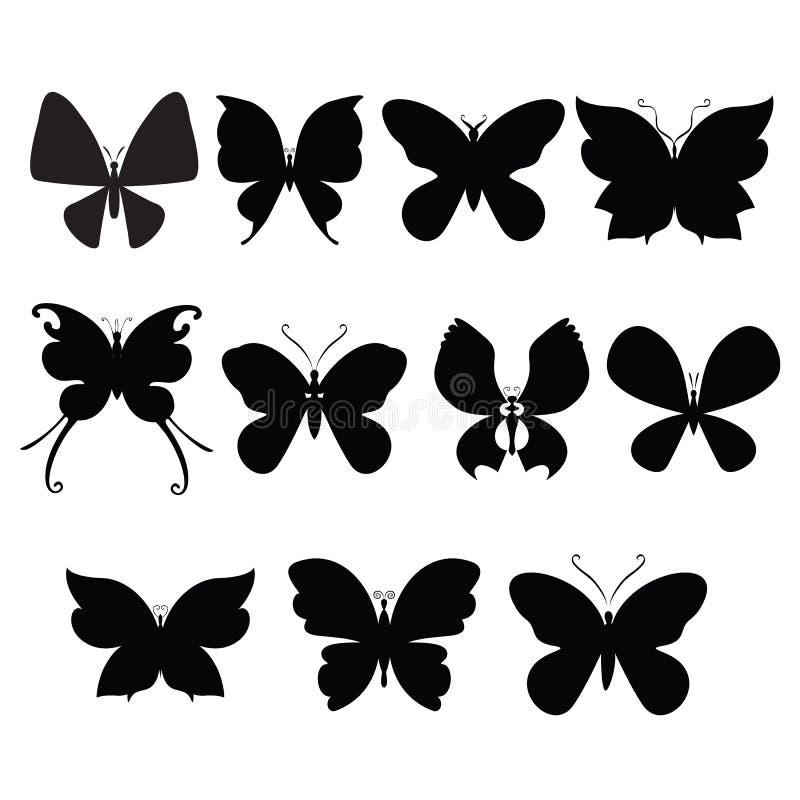 Fjärilskonturer vektor illustrationer