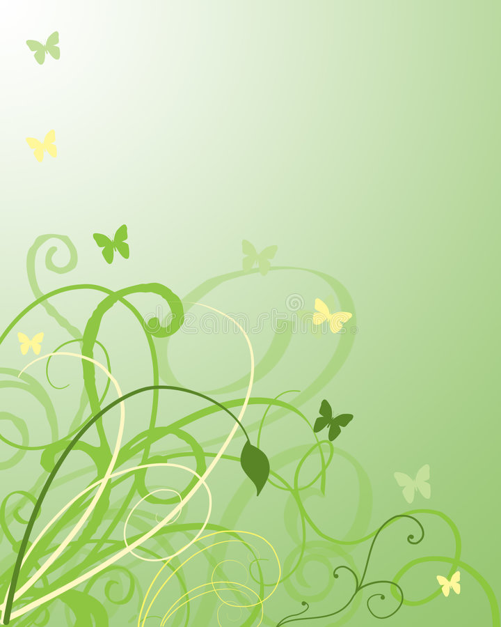 fjärilslövverkswirls arkivbild