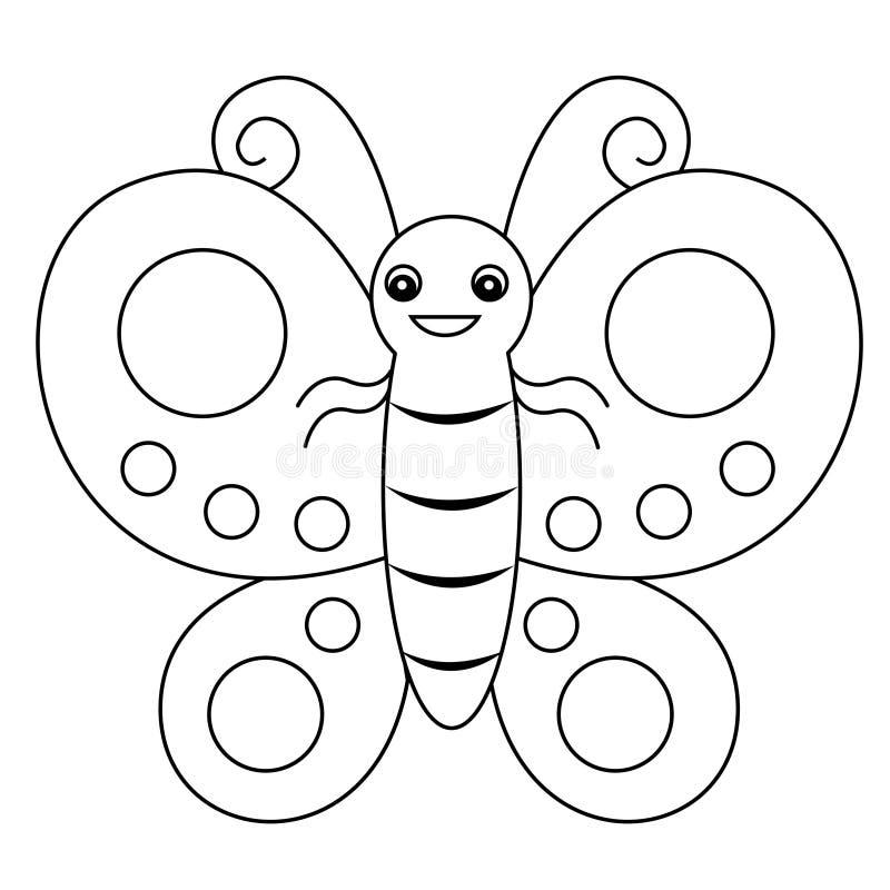fjärilslineart royaltyfri illustrationer
