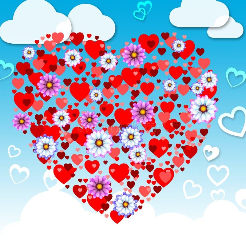 Fjärilsnaturen betyder valentin dag och djur stock illustrationer
