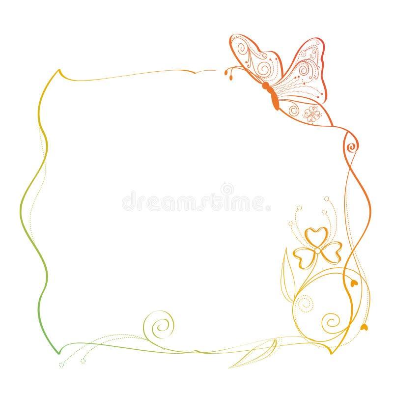 fjärilsram stock illustrationer