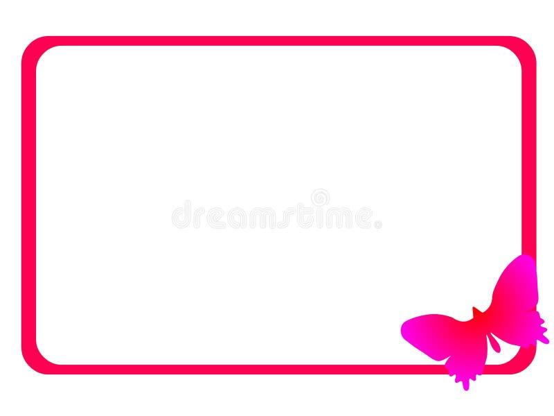 fjärilsram vektor illustrationer