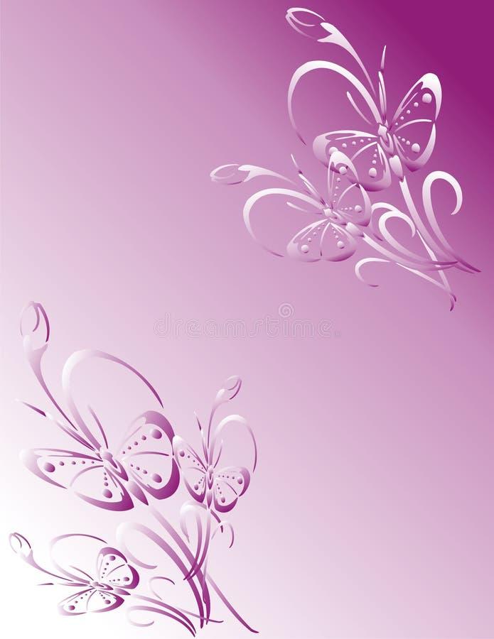 fjärilsrampink stock illustrationer