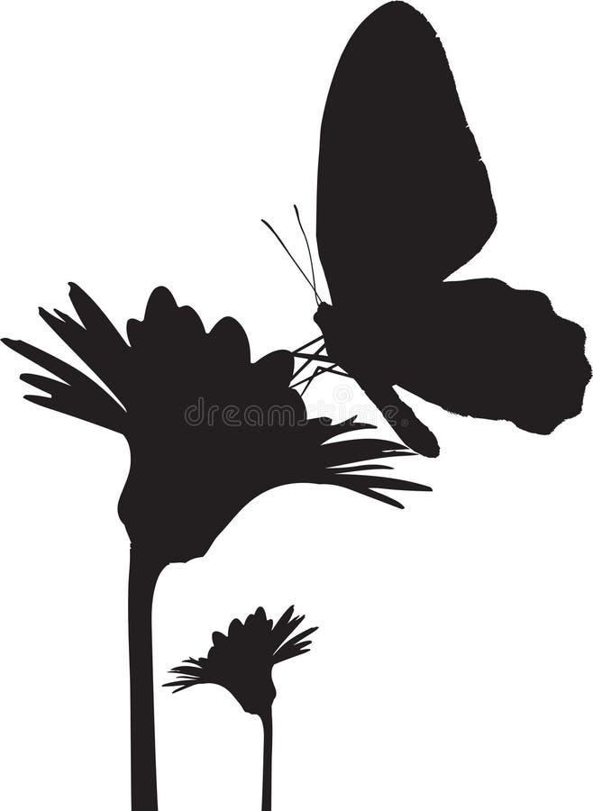 fjärilssilhouette royaltyfri illustrationer