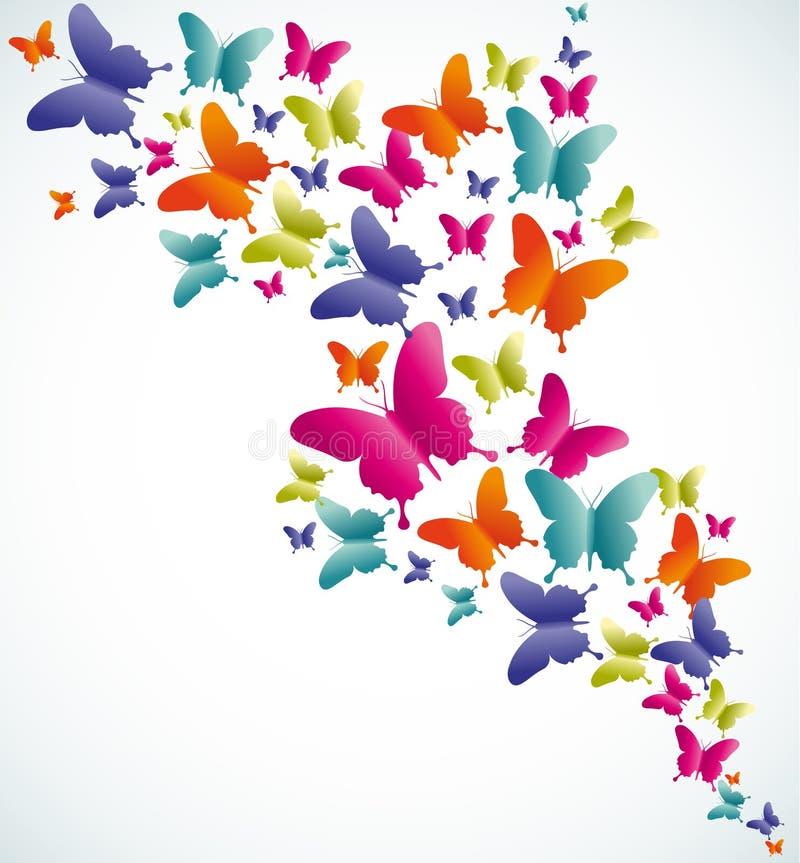 Fjärilssommarfärgstänk stock illustrationer