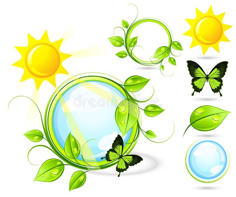 fjärilssun stock illustrationer